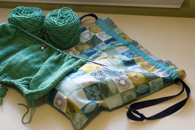 Plucky Knitter Plucktember and Drawstring Project Bag