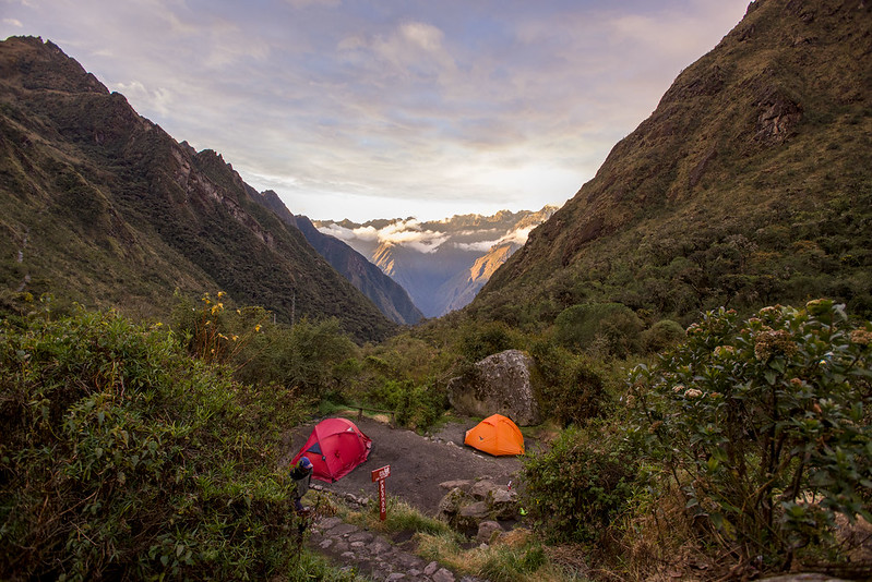 Camp site on Inca Trail