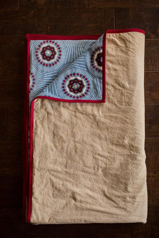 essex linen/velveteen quilt