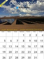 October 2014 Calendar: Solar Mountain Complex, Boulder City @TravelNevada #nv150