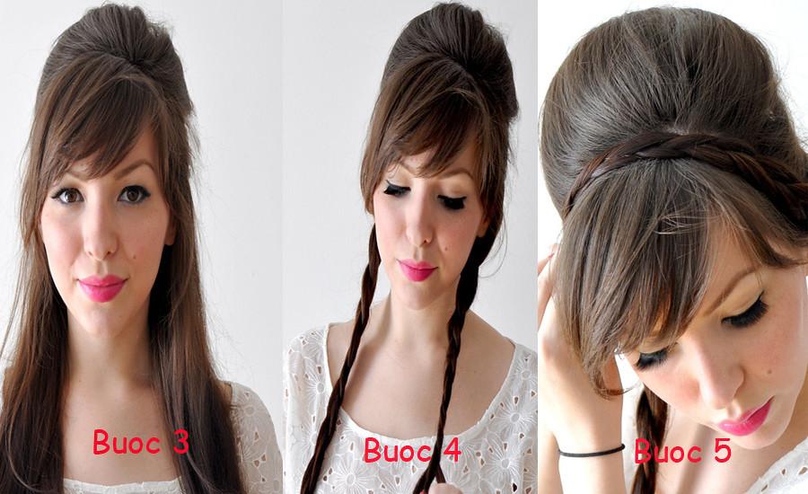 Cách búi tóc đẹp đơn giản! Kiểu búi tóc cao, phồng, xì tin 3