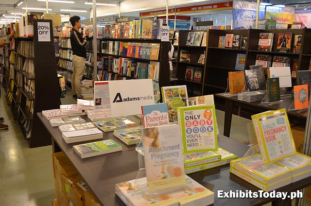 Fully Booked exhibit book shelves