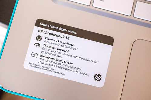 HP Chromebook 14 Spec Sticker