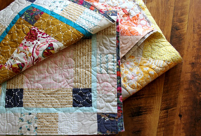 Quilted with flowers & loops
