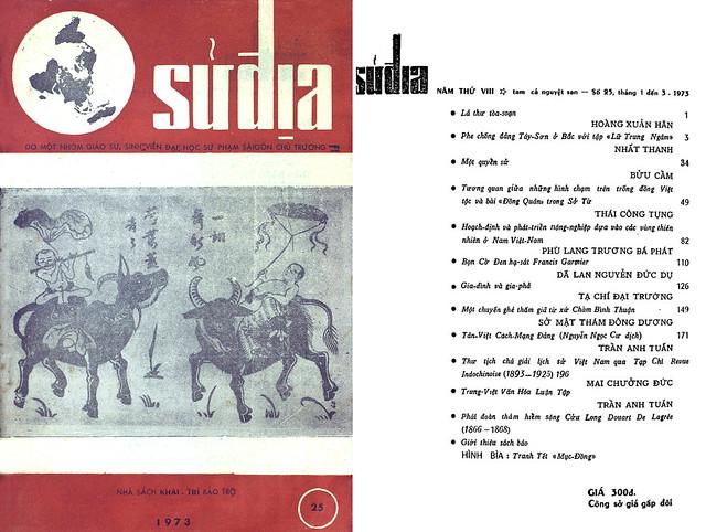 Tập san Sử Địa - Số 25 – Tháng 1, 2, 3-1973