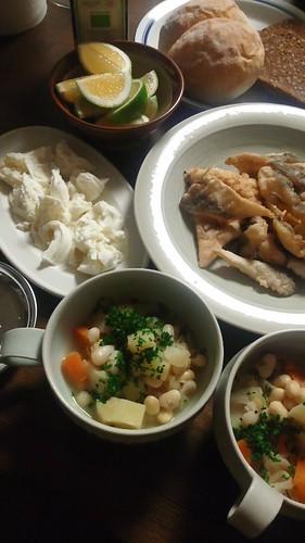 キャベツと豆のスープ煮込み by nekotano