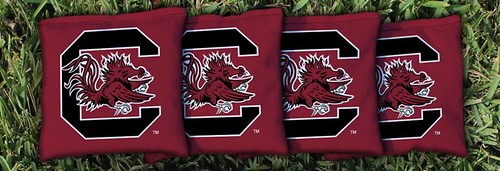 SOUTH CAROLINA USC GAMECOCKS RED CORNHOLE BAGS