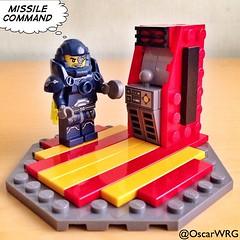 Thanks to @PowerPig for the #Arcade instructions #LEGO_Galaxy_Patrol #LEGO #LEGOarcade #MissileCommand #Atari @lego_group @lego @bricknetwork @brickcentral @atari @atarigames