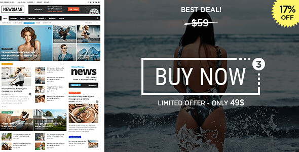 Newsmag WordPress Theme free download