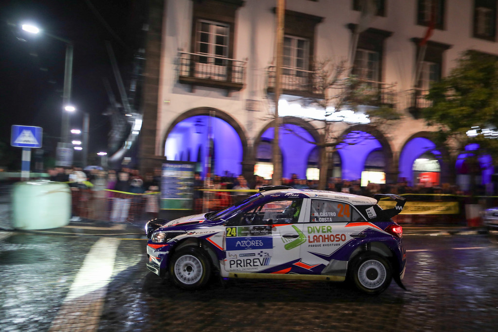 24 CASTRO Manuel  COSTA Luis  Hyundai I20 R5 Action during the 2017 European Rally Championship ERC Azores Rally - Photo Jorge Cunha / DPPI