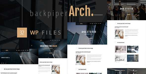 Backpiperarch WordPress Theme free download