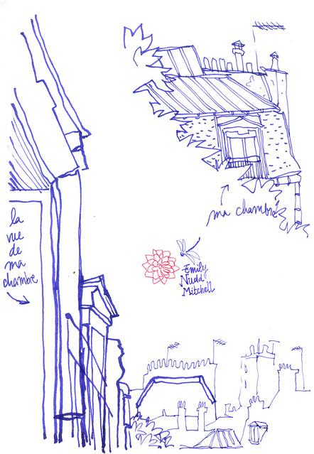 Paris - Les toits à l'encre