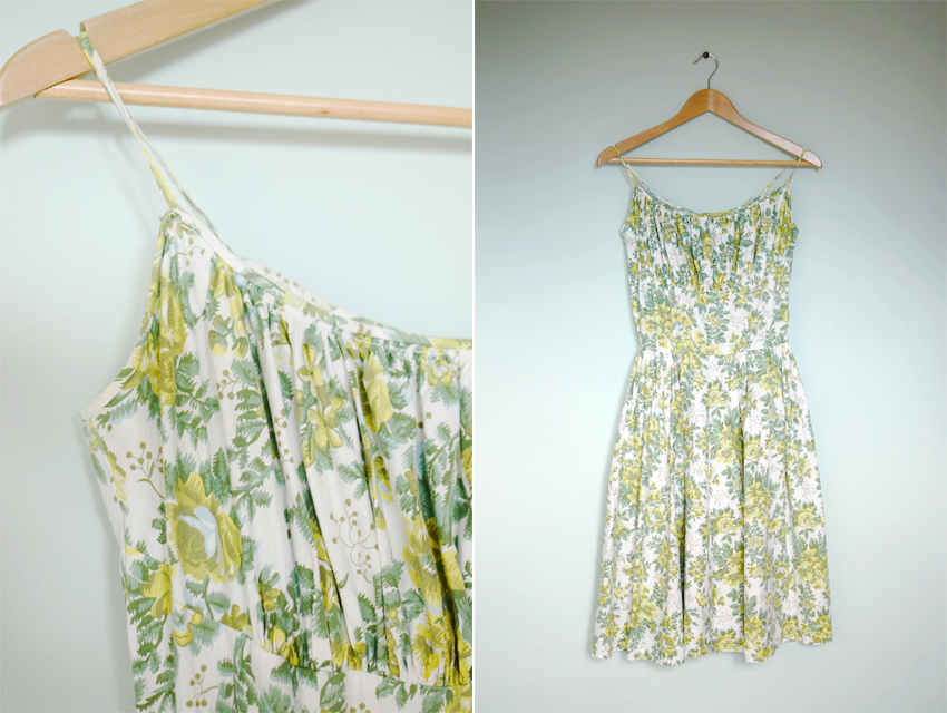 green-floral-sundress-1950s a