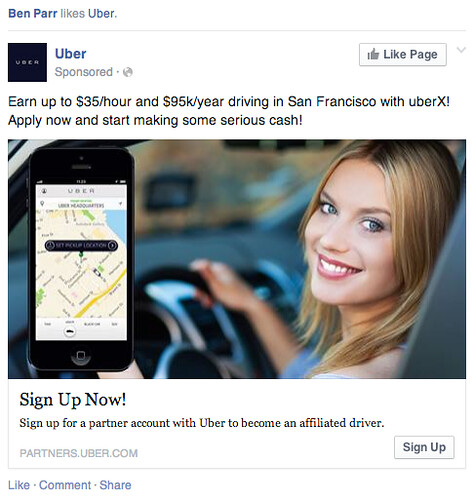UberX truth in advertsing