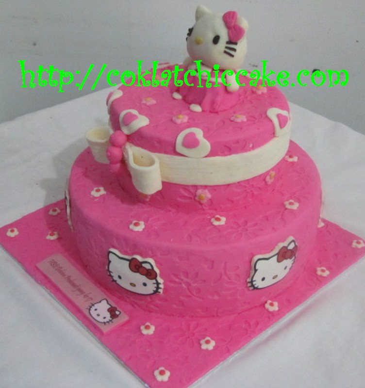 Kue Ulang Tahun Hello Kitty Delvira Probowati Coklatchic