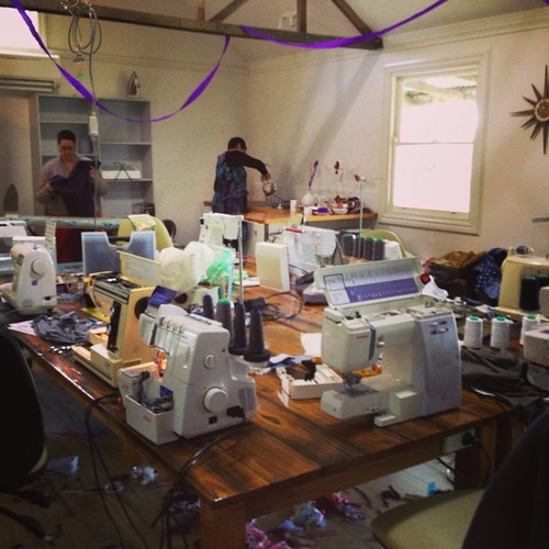 A quiet moment in the studio #craftcamp