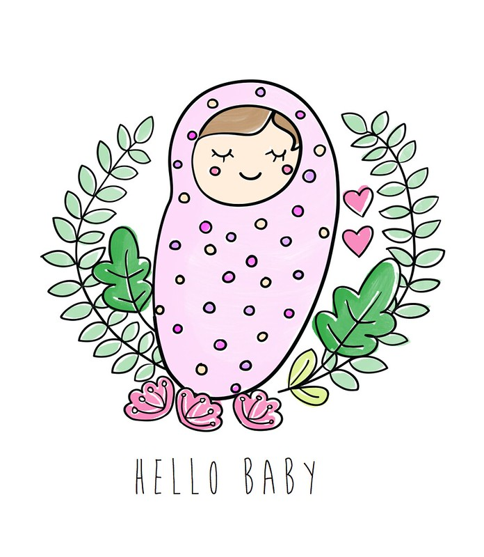 Hello Baby - New baby greeting card by Little Love Boat