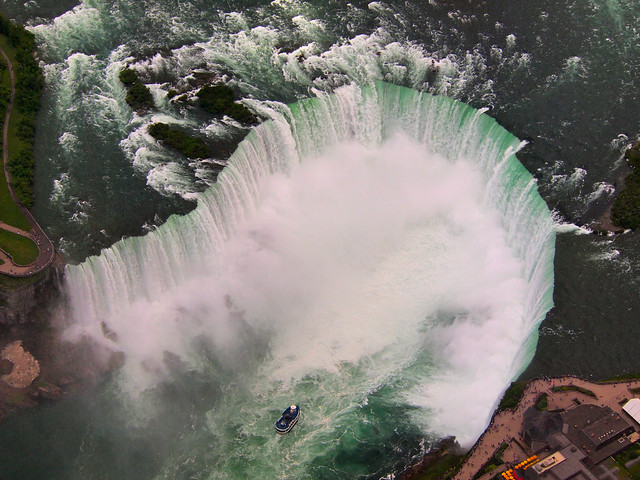 Horseshoe Falls from a Helicopter