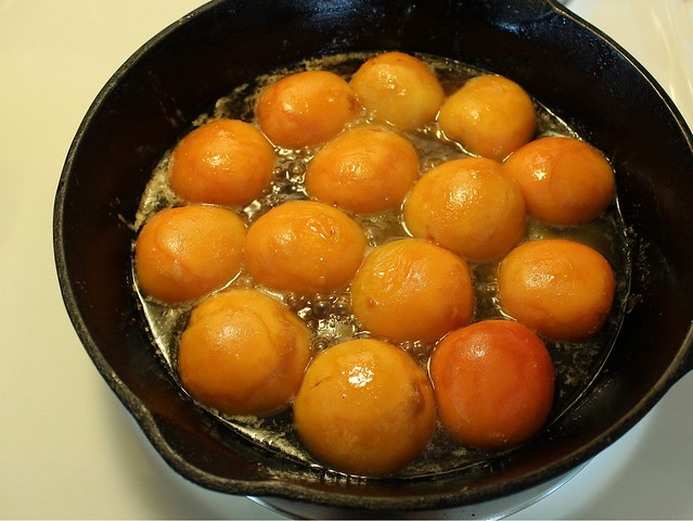 browned apricots
