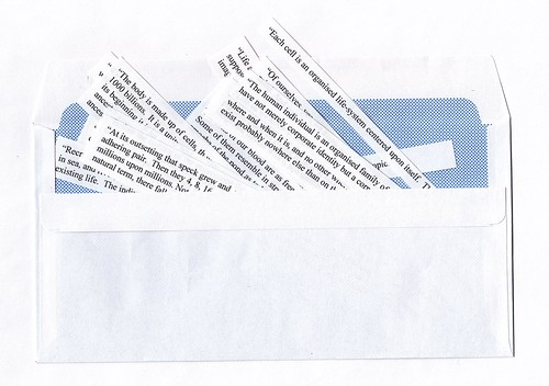 Envelope with quotes
