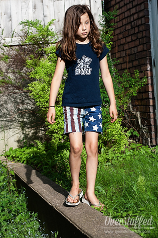 Patriotic cutoff shorts