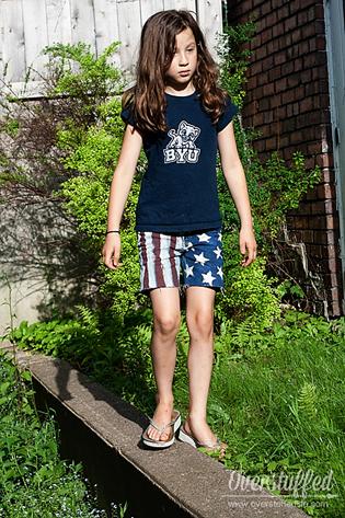 Patriotic cutoff shorts