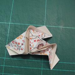 วิธีการพับลูกบอลกระดาษญี่ปุ่นแบบโคลเวอร์ (Clover Kusudama)014