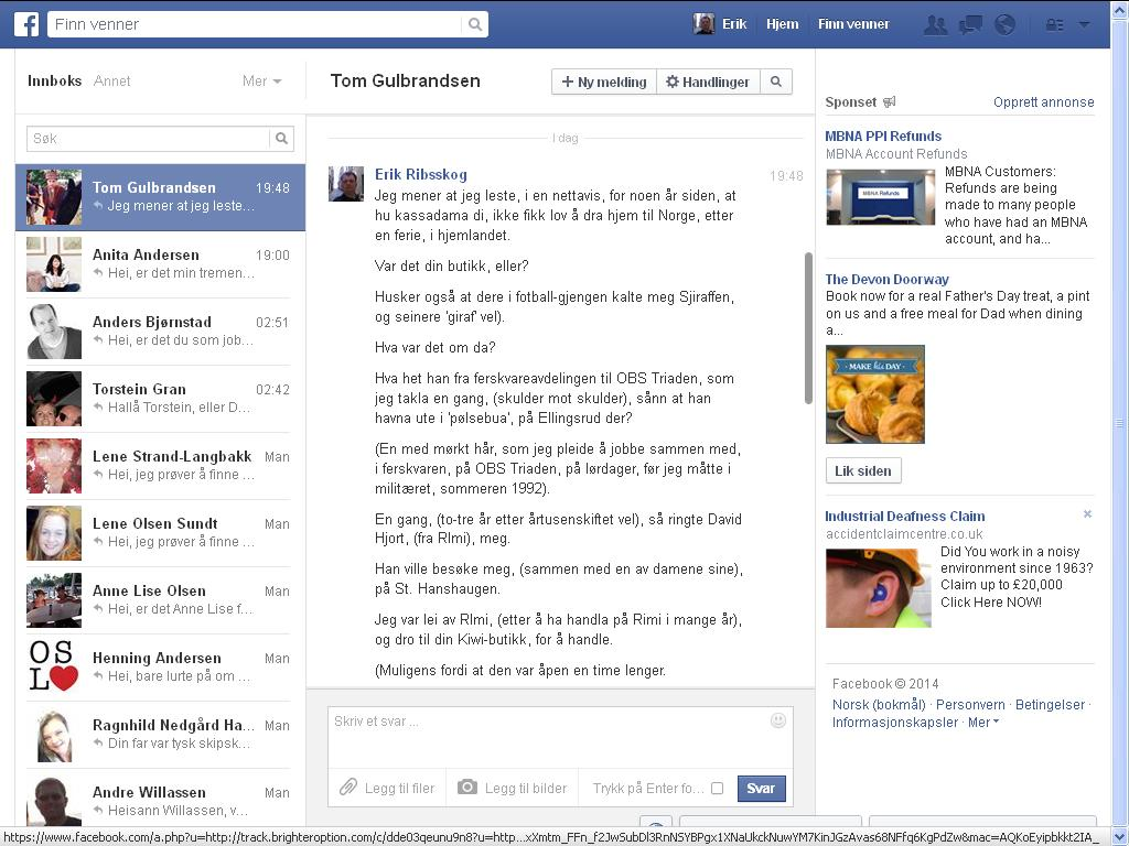 tom facebook