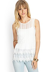 Forever 21 Embroidered Peplum Top