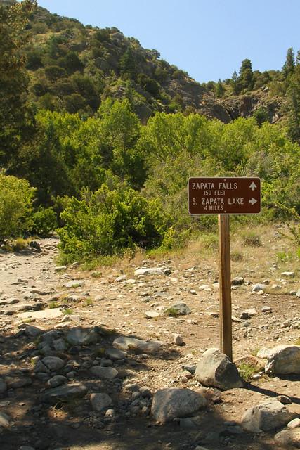 Zapata Falls Sign