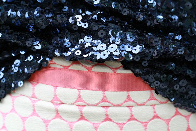 sequins and polka dot fashion via Kristina j blog