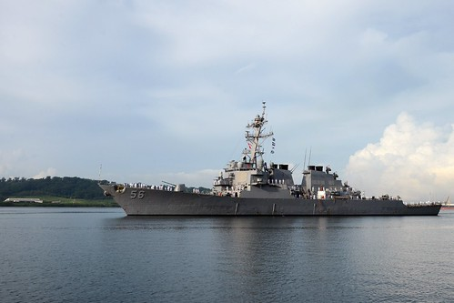 USS John S. McCain in Subic Bay, Philippines