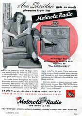 1945 Motorola Radio with Ann Sheridan Advertisement Popular Mechanics January 1945