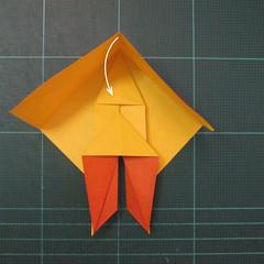 การพับกระดาษเป็นรูปปลาคาร์ฟ (Origami Koi Fish) 014