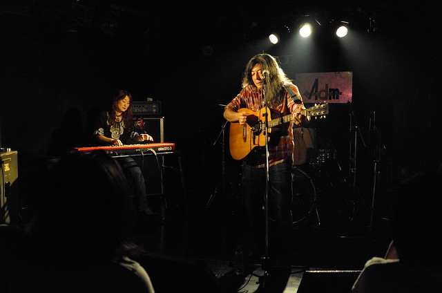 O.E. Gallagher (solo/duo) live at Adm, Tokyo, 03 Aug 2014. 012