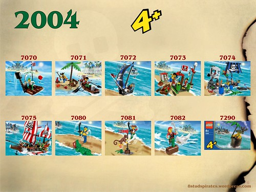 LEGO Pirates Timeline 2004