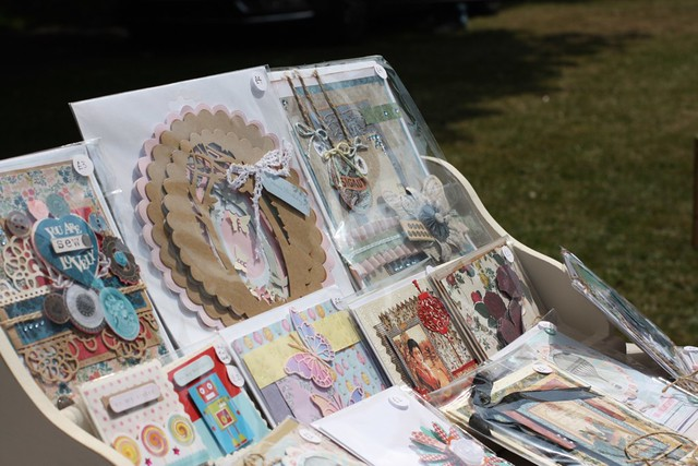 Selling handmade cards - craft fair card stands
