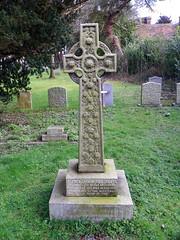 Gravestone of Alfred Unwin-Heathcote, St Mary's Church, Shephall