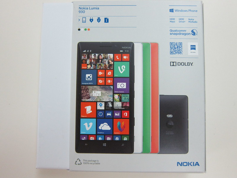 Nokia Lumia 930 - Box Back