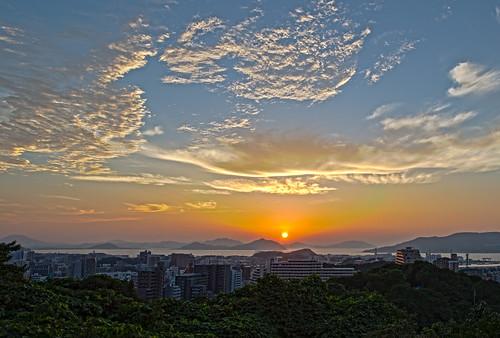 travel sunset japan landscape fukuoka hdr magichour kyushu treatment 九州 福岡 hakata 博多 fukuokaprefecture