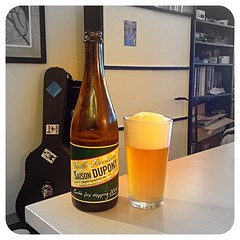 Saison Dupont Cuvée Dry Hopping (2014) - A wonderful Belgian farmhouse ale that has delightful hoppy notes from Challenger hops.