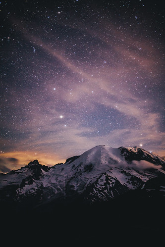 Chasing Stars at Mount Rainier