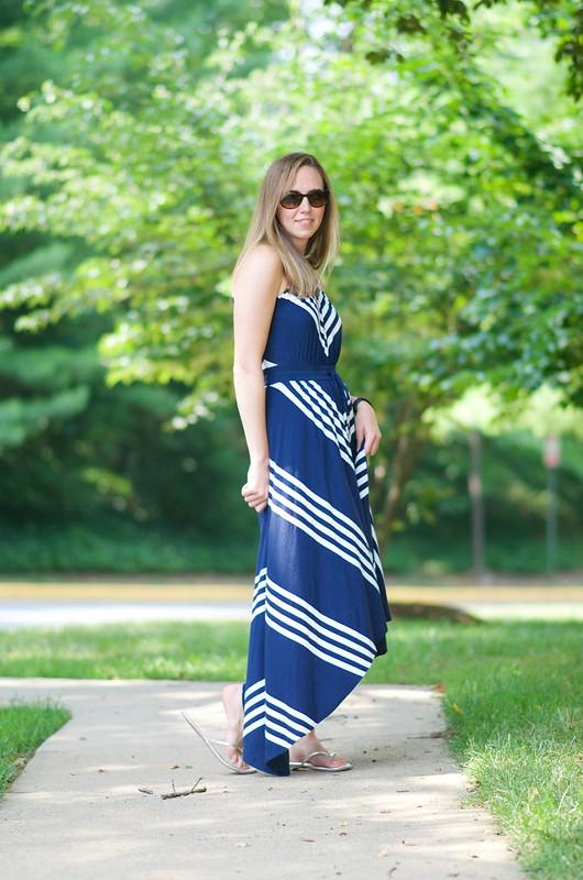 blue v dress 7