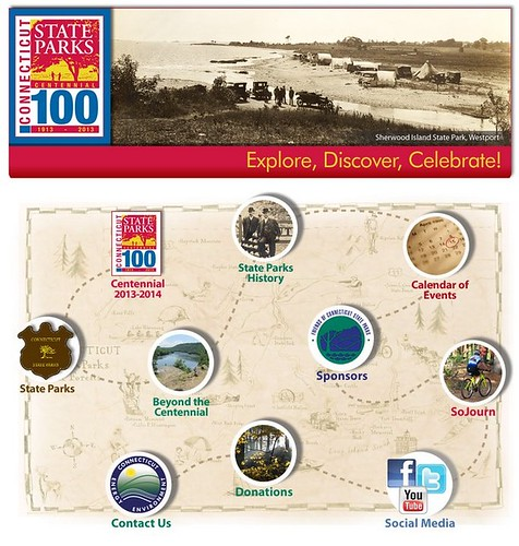 parks centennial webpage, State of Connecticut, 2014