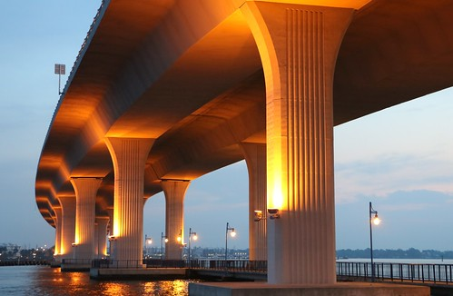 bridge dawn lights florida stuart roosevelt illuminate