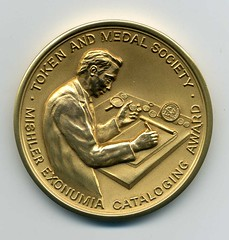 TAMS Mishler Exonumia Cataloging Award medal - Copy
