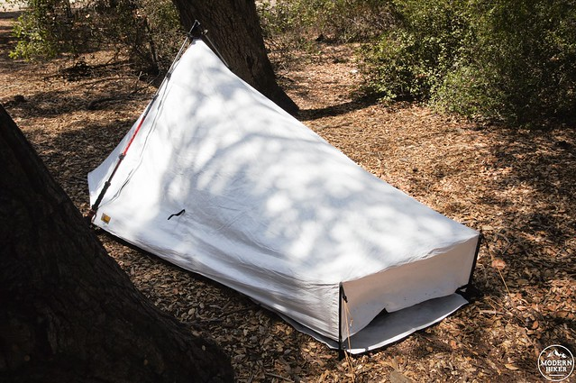 Sublite Complete Rear Angle & Product Review: The Ultralight Sublite Tarp Tent | Modern Hiker