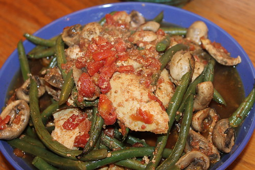 Oven Baked Chicken and Green Beans