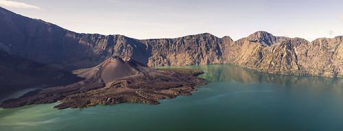 Volcano inside a Volcano, Mt Rinjani panoramic