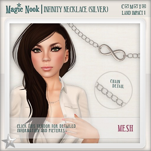 [MAGIC NOOK] Infinity Necklace (Silver) MESH